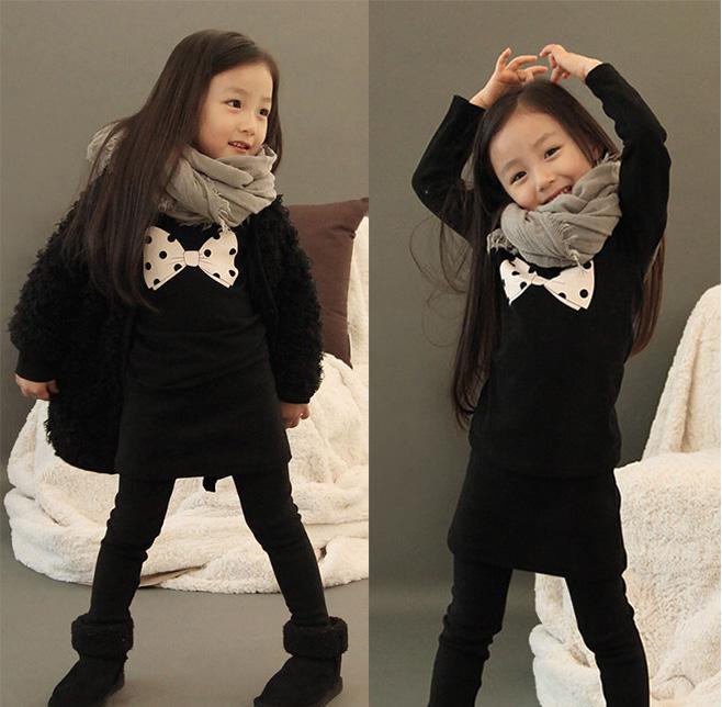 Платья для девочек Платье для девочек 2013 spring dot bow girls