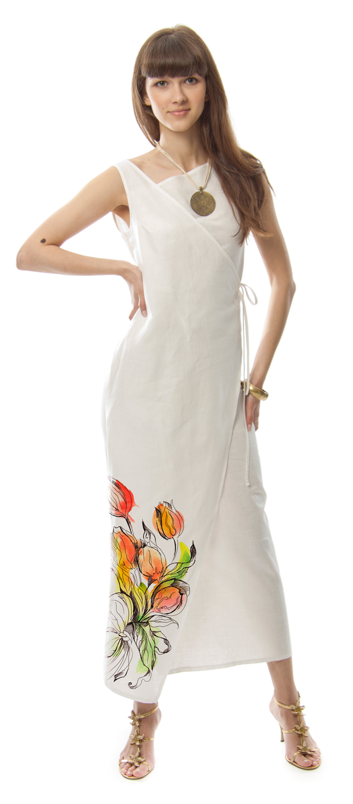 Льняные сарафаны с вышивкой 26