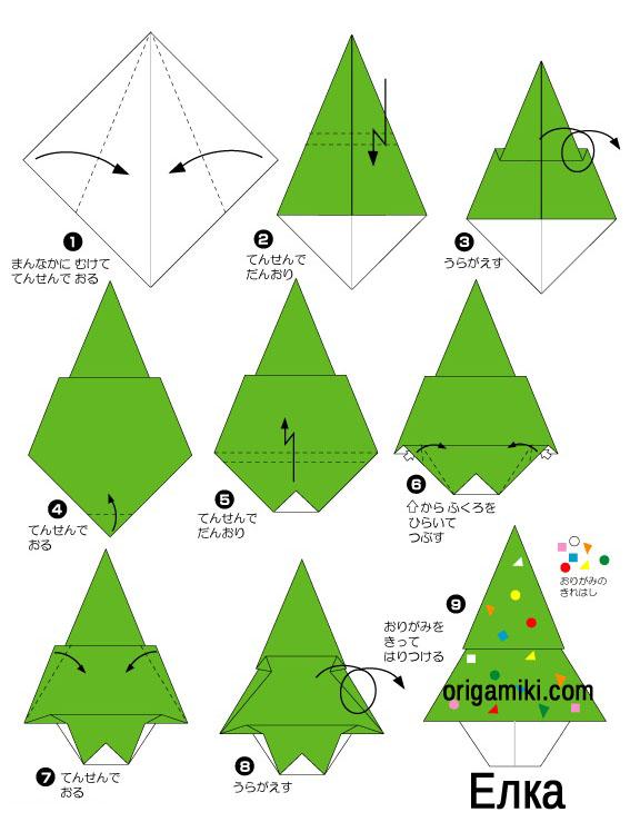 Оригами своими руками из бумаги к новому году видео