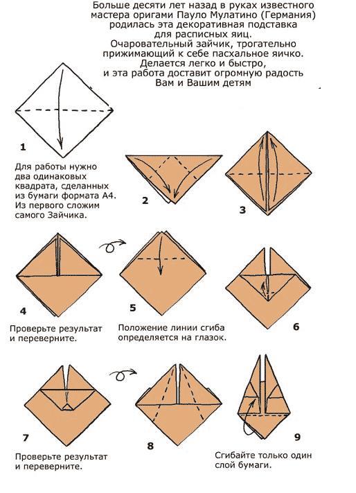 схема заяц подставка для яиц к